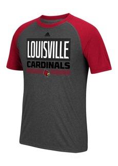 adidas Men's Louisville Cardinals Linear Stack Raglan T-Shirt