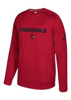 adidas Men's Louisville Cardinals Sideline Player Crew Sweatshirt