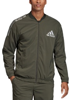 Adidas Men's Metallic Accented Track Bomber Jacket