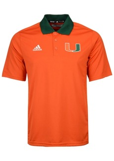 adidas Men's Miami Hurricanes Coaches Polo