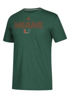 adidas Men's Miami Hurricanes Performance Sideline Logo T-Shirt