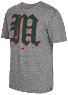 adidas Men's Miami Hurricanes Vintage Logo T-Shirt