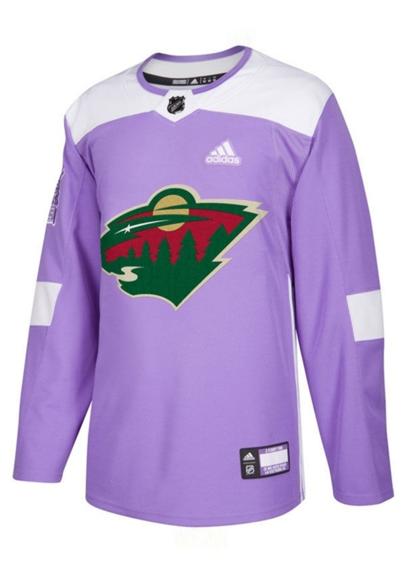 adidas Men's Minnesota Wild Authentic Hockey Fights Cancer Jersey