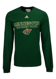 adidas Men's Minnesota Wild Frontline Long Sleeve T-Shirt