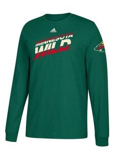 adidas Men's Minnesota Wild Line Shift Long Sleeve T-Shirt