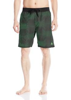 """adidas Men's Modern Lines 9"""" Inseam Volley Swim Trunk"""