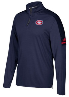 adidas Men's Montreal Canadiens Authentic Pro Quarter-Zip Pullover