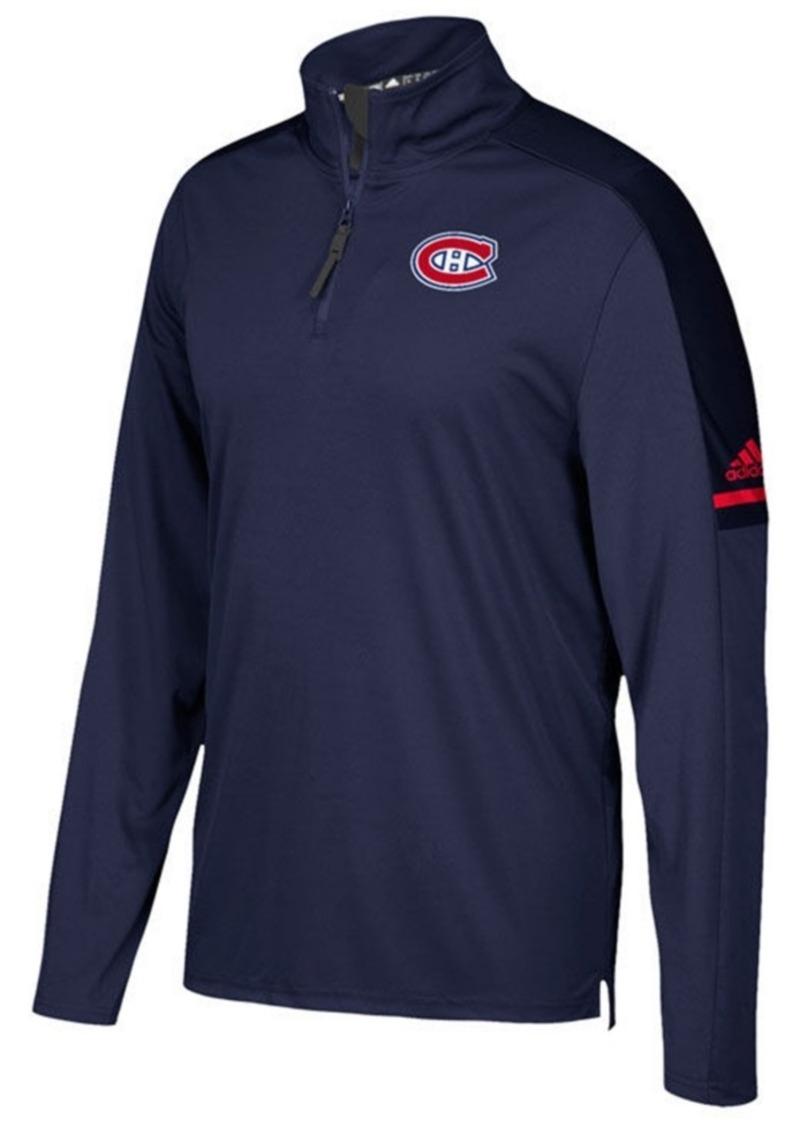 adidas Men's Montreal Canadiens Authentic Pro Quarter-Zip Pullover
