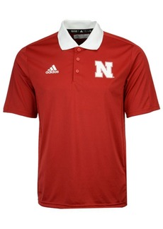 adidas Men's Nebraska Cornhuskers Coaches Polo