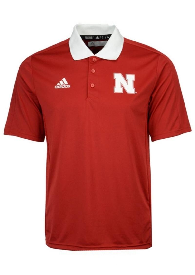 adidas Men's Nebraska Cornhuskers Coaches Polo