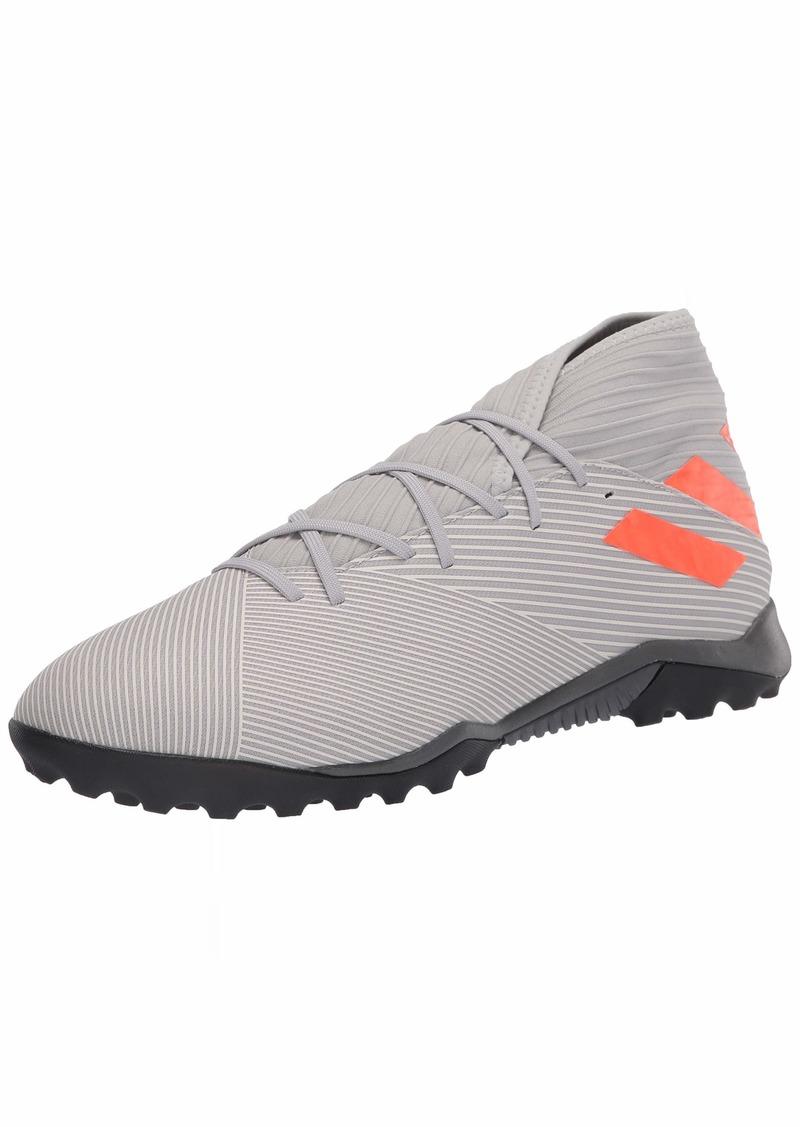 adidas Men's Nemeziz 19.3 TF Football Shoe Grey two/Solar orange/chalk White  Standard US Width US