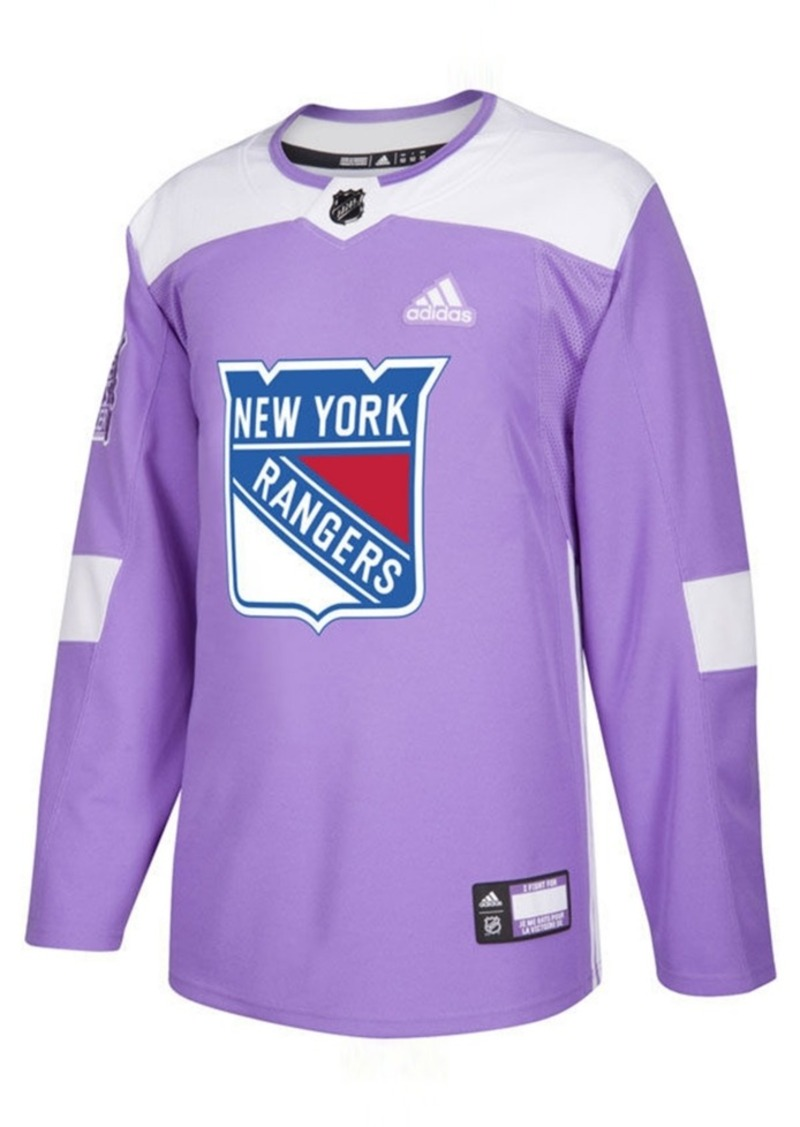 adidas Men's New York Rangers Authentic Hockey Fights Cancer Jersey
