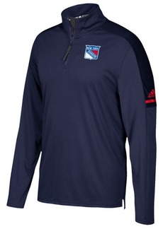 adidas Men's New York Rangers Authentic Pro Quarter-Zip Pullover