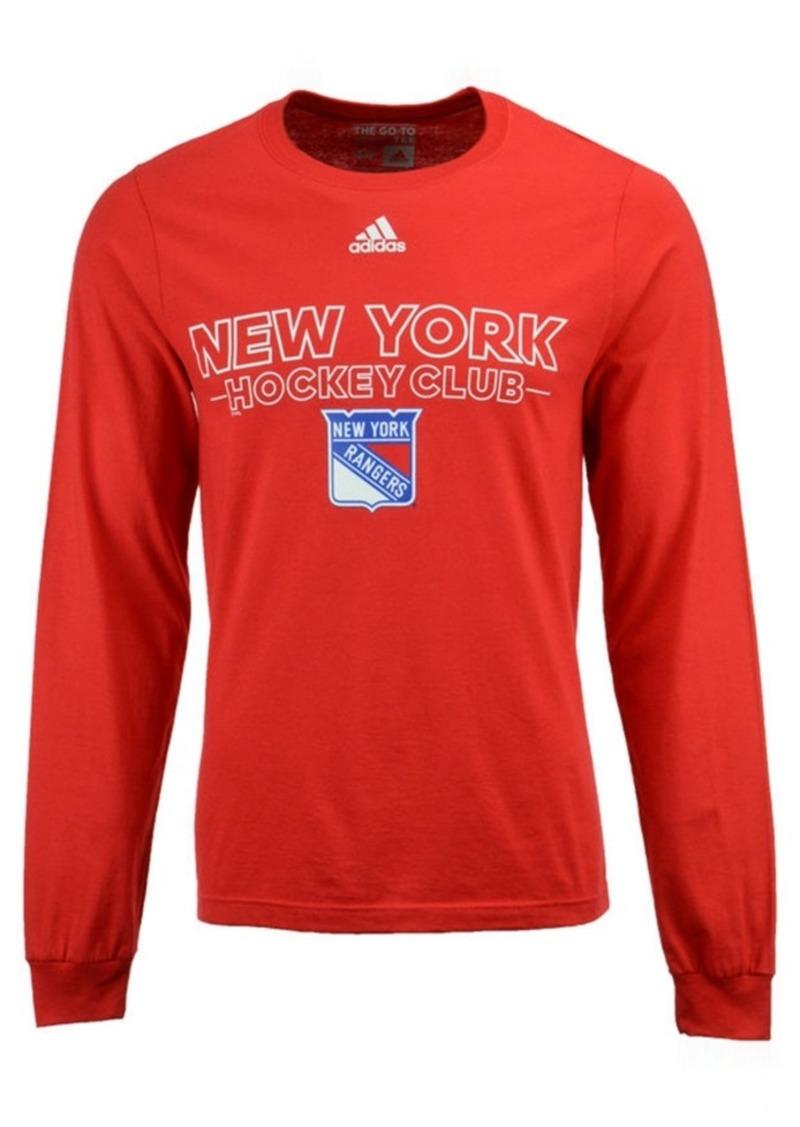 adidas Men's New York Rangers Frontline Long Sleeve T-Shirt
