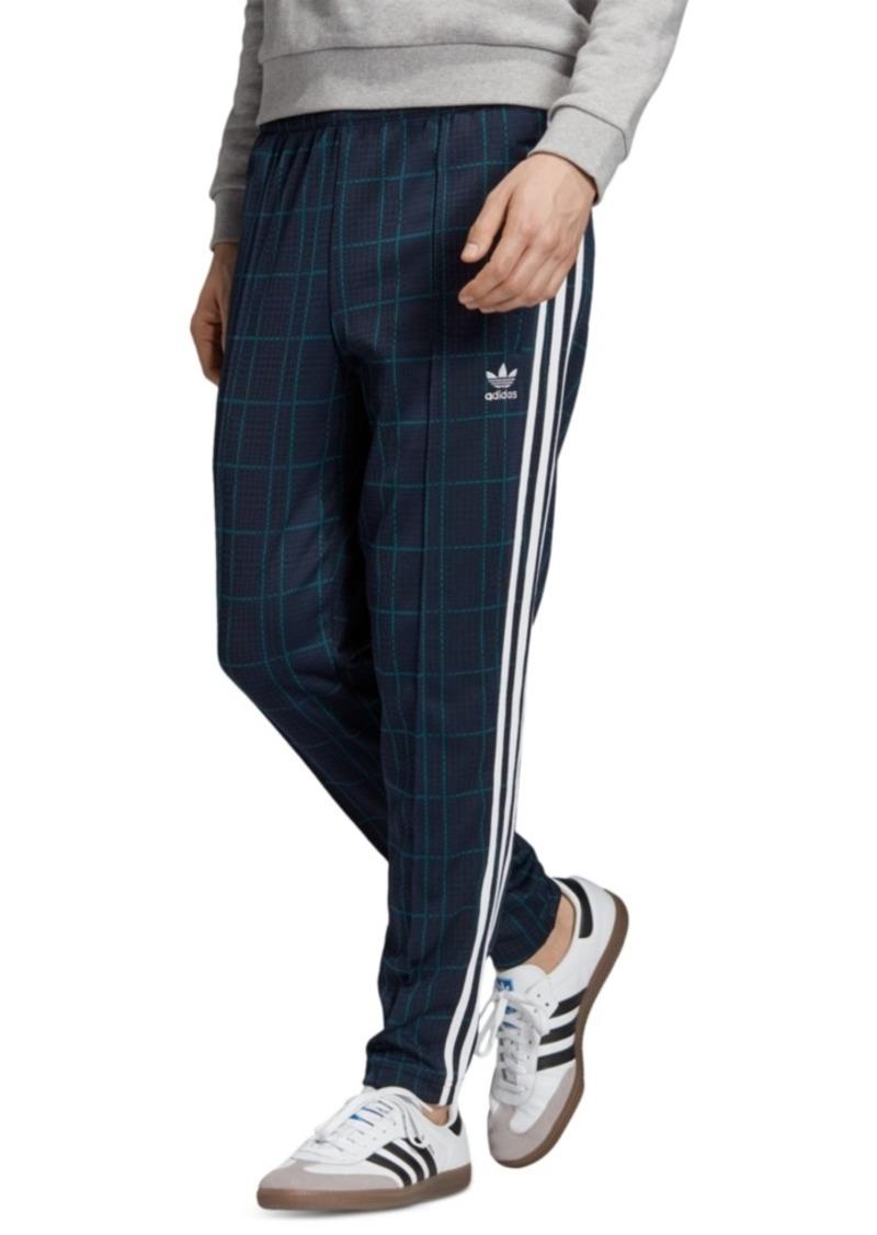 adidas Men's Originals Plaid Track Pants