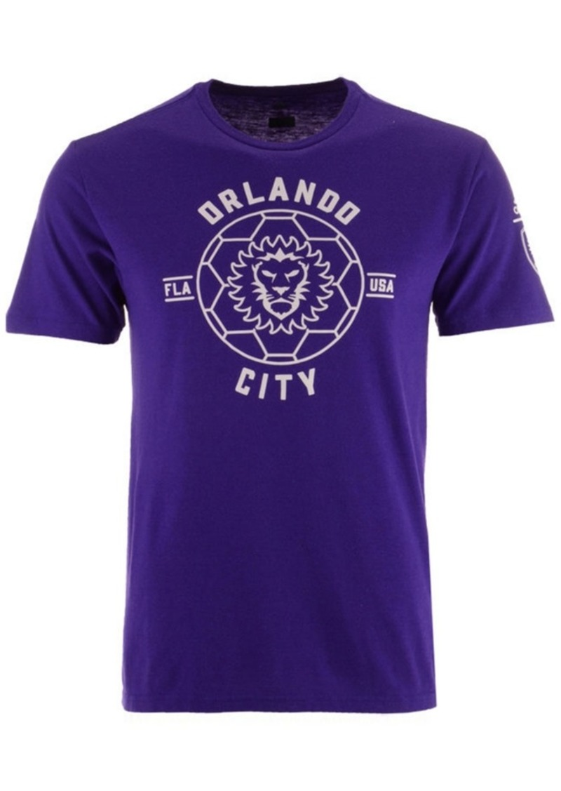 adidas Men's Orlando City Sc Linear Icon Tri-Blend T-Shirt