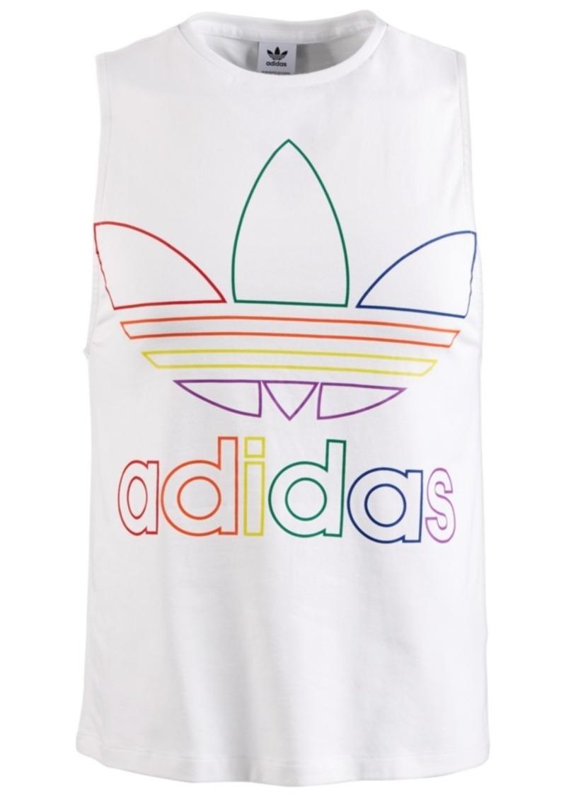 adidas Men's Outline-Logo Tank Top