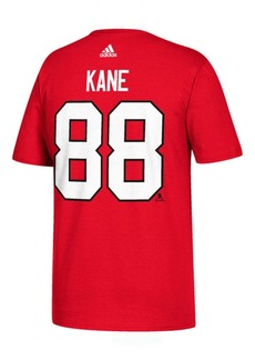 adidas Men's Patrick Kane Chicago Blackhawks Silver Player T-Shirt