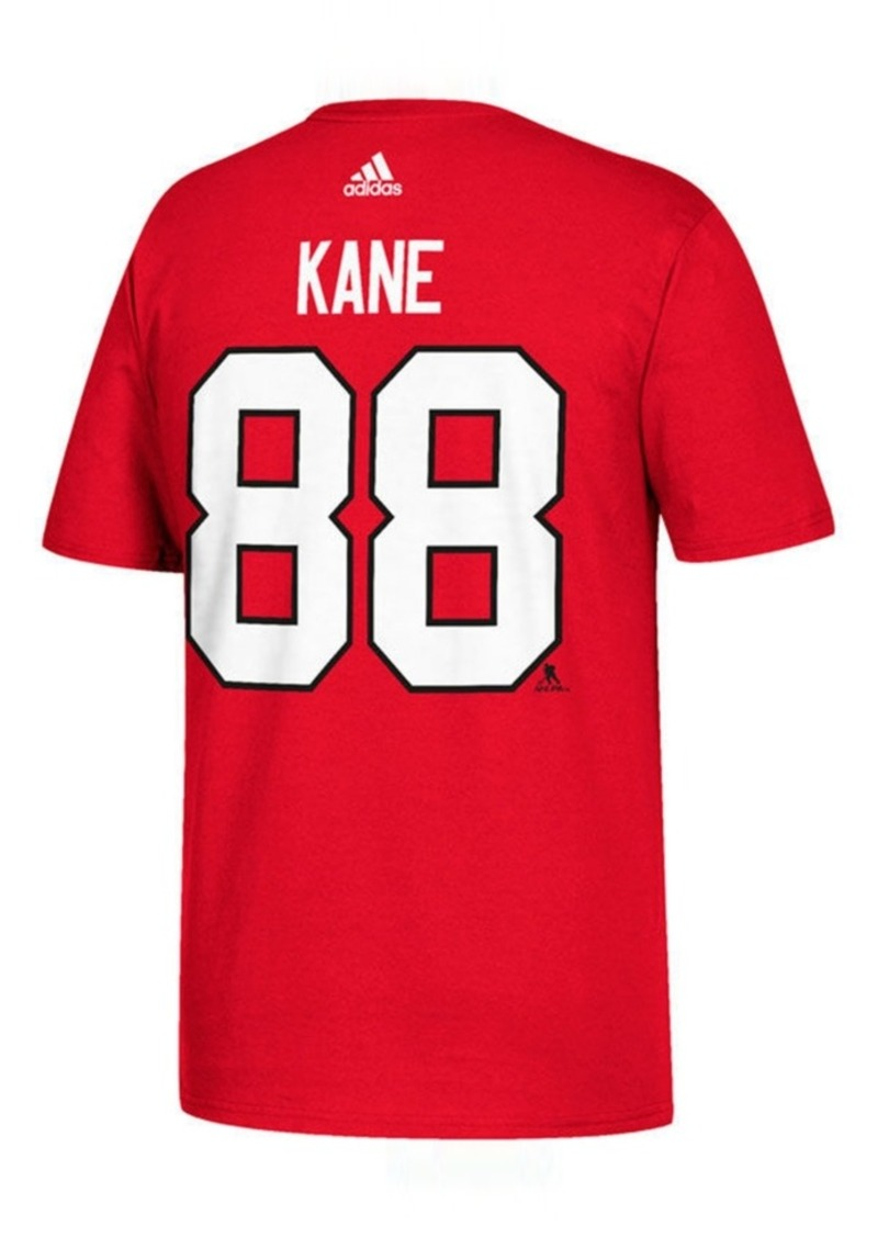 adidas Men's Patrick Kane Chicago Blackhawks Silver Player T-Shirt