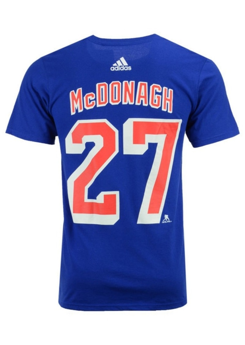 adidas Men's Ryan McDonagh New York Rangers Silver Player T-Shirt