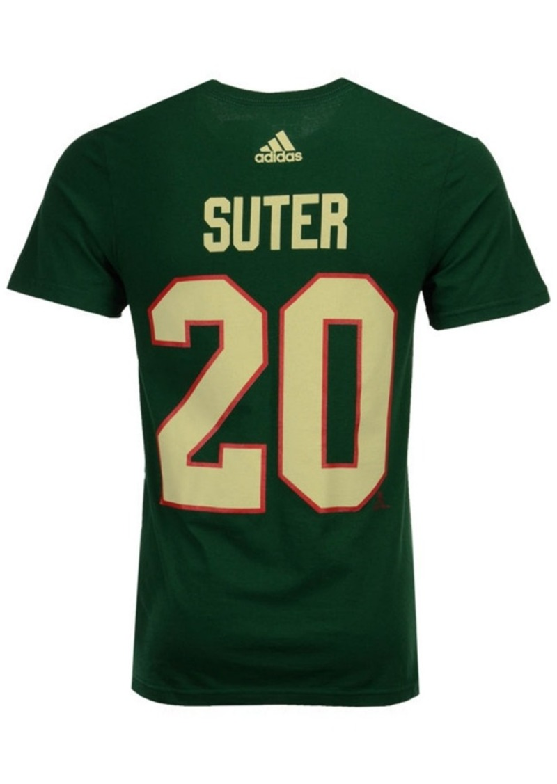 adidas Men's Ryan Suter Minnesota Wild Silver Player T-Shirt