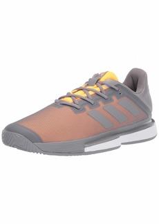 adidas Men's SoleMatch Bounce M Tennis Shoe Grey Three/Grey Three/Flash Orange  Standard US Width US