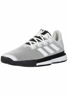adidas Men's SoleMatch Bounce Tennis Shoe White/Black  M US