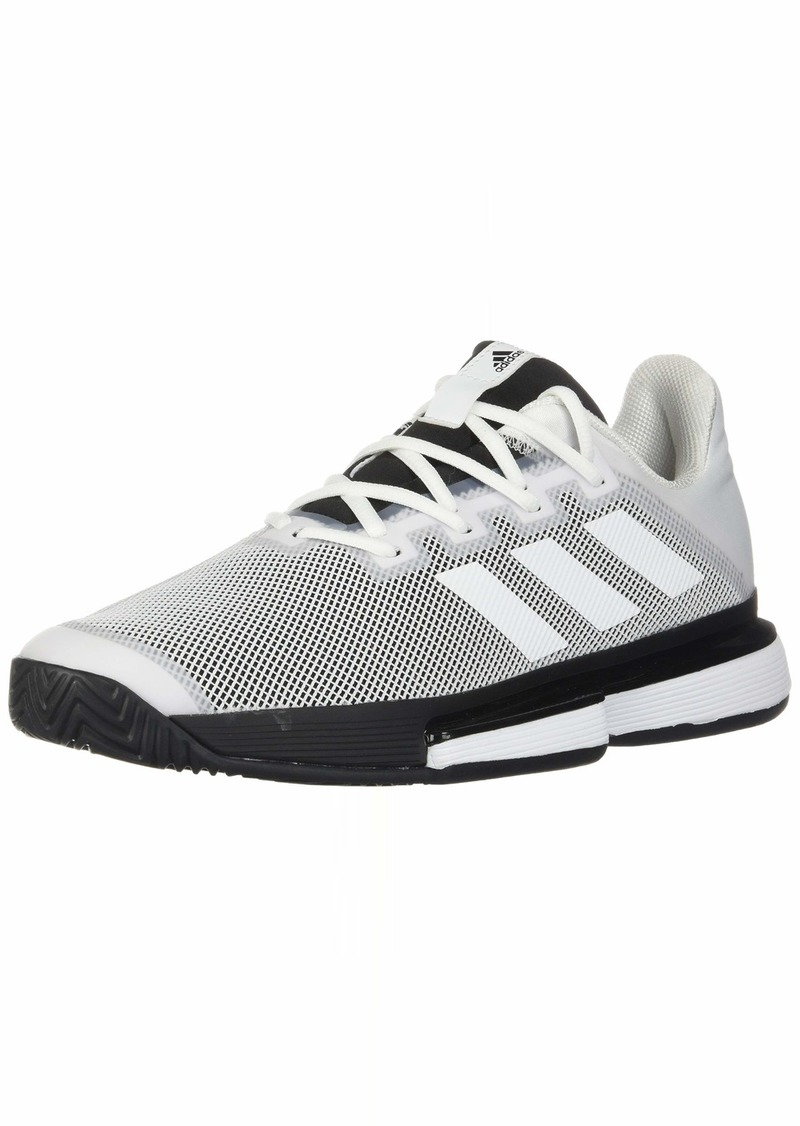adidas Men's SoleMatch Bounce Tennis Shoe White/Black  M US