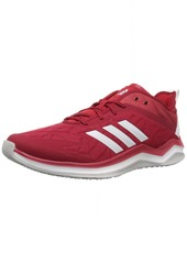adidas Men's Speed Trainer 4 Baseball Shoe Power red/Crystal White/Scarlet  M US