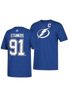 adidas Men's Steve Stamkos Tampa Bay Lightning Silver Player T-Shirt