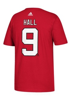 adidas Men's Taylor Hall New Jersey Devils Silver Player T-Shirt