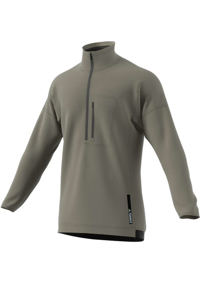 Adidas Men's Terrex Tivid 1/2 Zip Fleece Top
