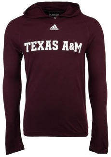 adidas Men's Texas A & M Aggies Mark My Words Long Sleeve Hooded T-Shirt