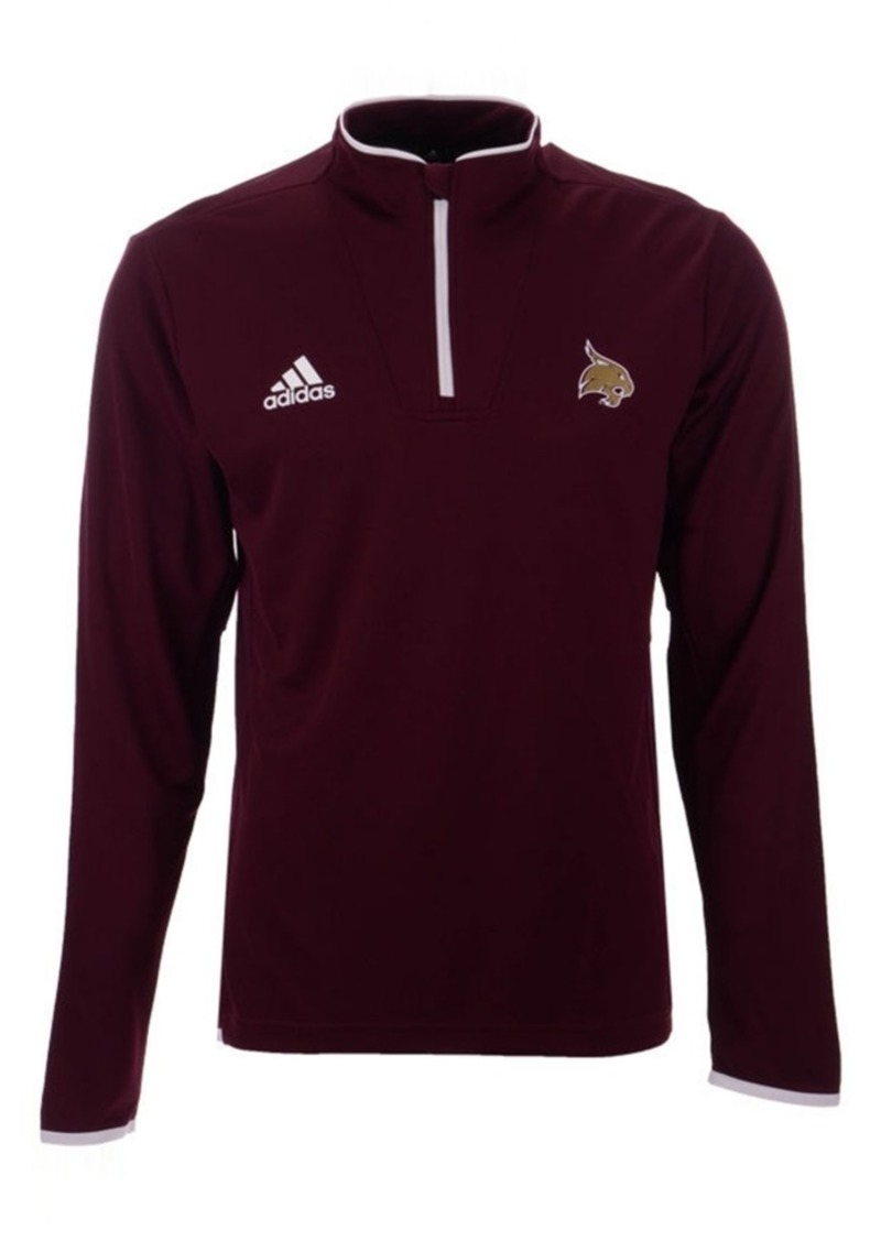 adidas Men's Texas State Bobcats Team Iconic Quarter Zip Pullover