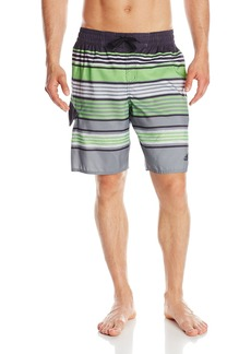 Adidas Men's Texture Stripe Volley Swim Trunk