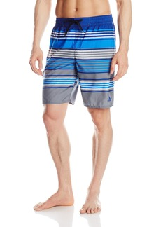 Adidas Men's Texture Stripe Volley Swim Trunk
