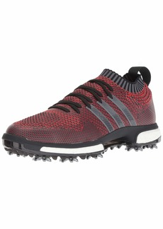 adidas Men's Tour360 Knit Golf Shoe red/Black/Grey  M US