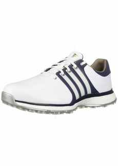 adidas Men's TOUR360 XT Spikeless Golf Shoe FTWR White/Collegiate Navy/Gold Metallic  M US