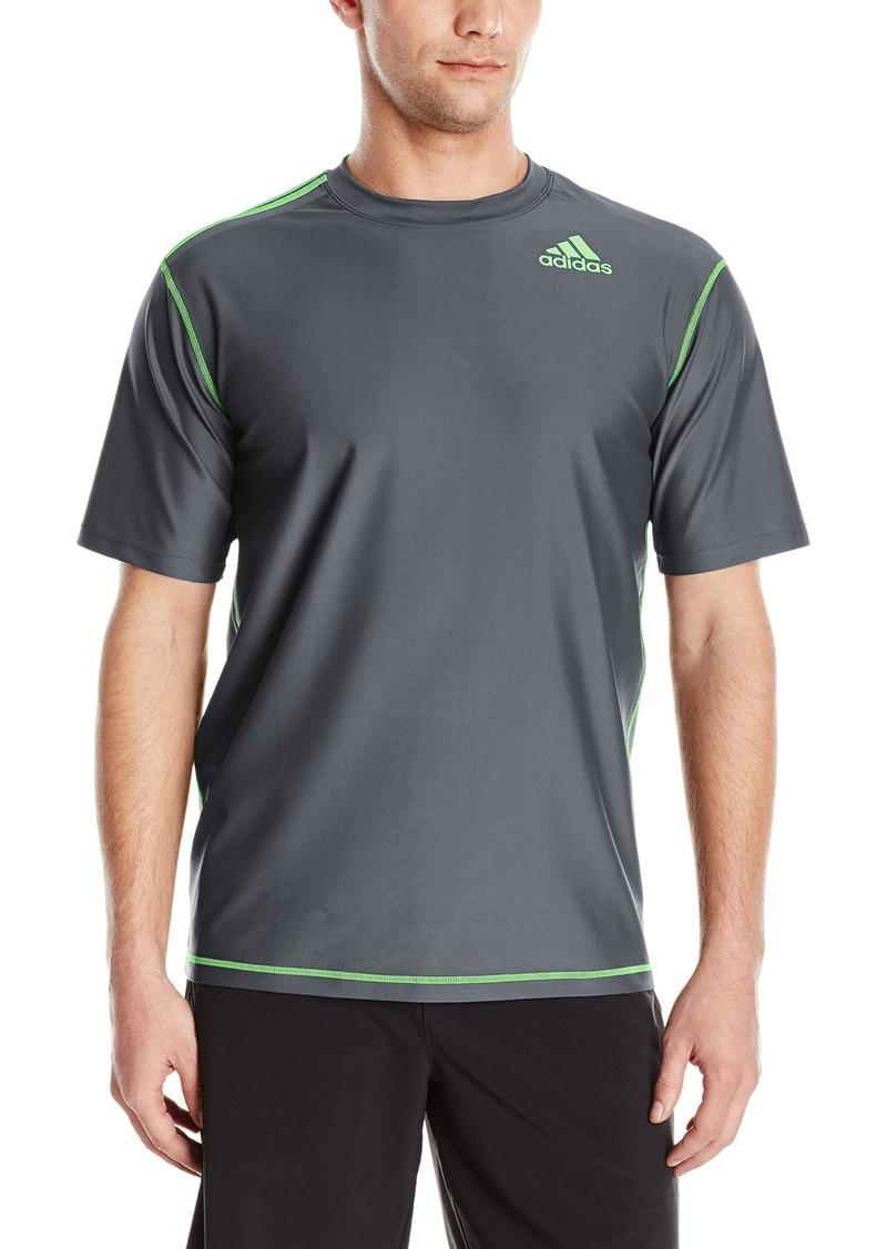 adidas Men's UPF 30+ Short Sleeve Swim Tee