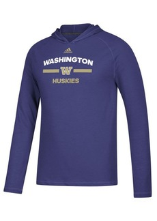 adidas Men's Washington Huskies Sideline Speed Arch Hooded Long Sleeve T-Shirt