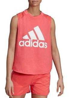 Adidas Mesh-Back Logo Tank