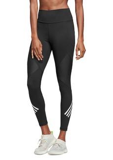 Adidas Mesh-Inset Triple Stripe Leggings