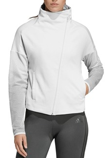 Adidas Mesh-Panel Funnel-Neck Jacket