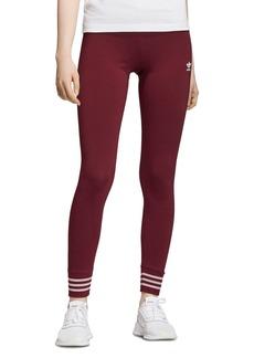 Adidas Metallic-Stripe Jersey Leggings
