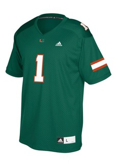 adidas Miami Hurricanes Replica Football Jersey, Big Boys (8-20)