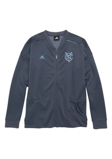 adidas MLS New York City FC Anthem Full Zip Jacket (Big Boys)