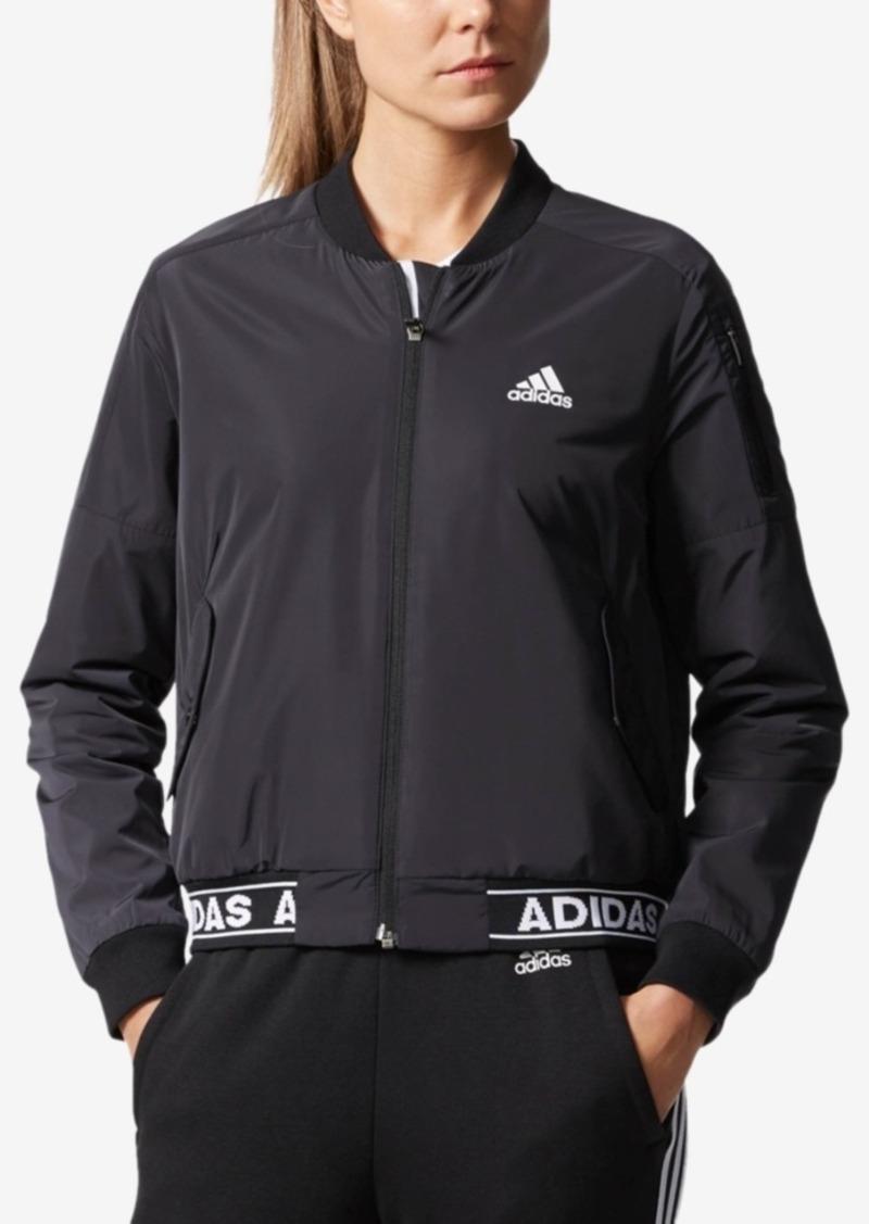 adidas Modern Varsity Fleece-Lined Bomber Jacket
