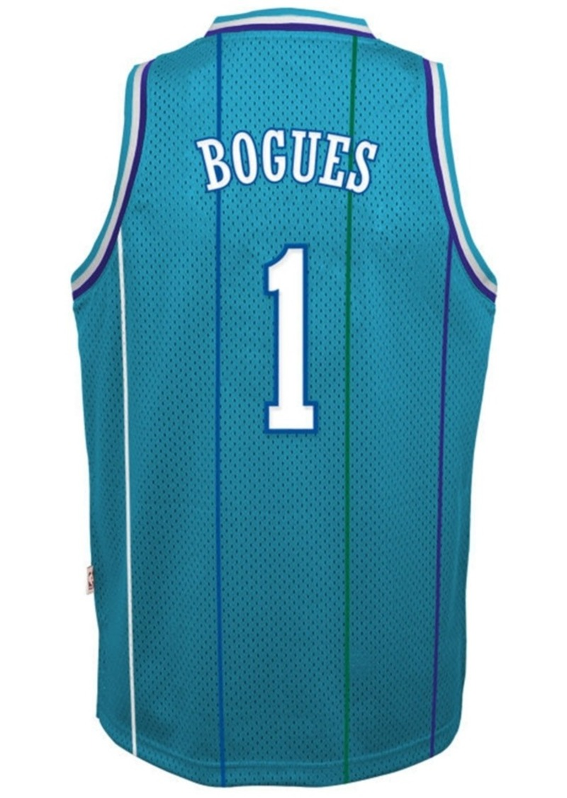 adidas Muggsy Bogues Charlotte Hornets Retired Player Swingman Jersey, Big Boys (8-20)