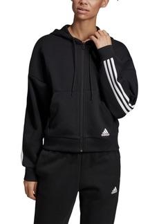 adidas Women's Must Have 3-Stripe Zip Hoodie