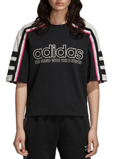 Adidas OG Striped Logo Tee